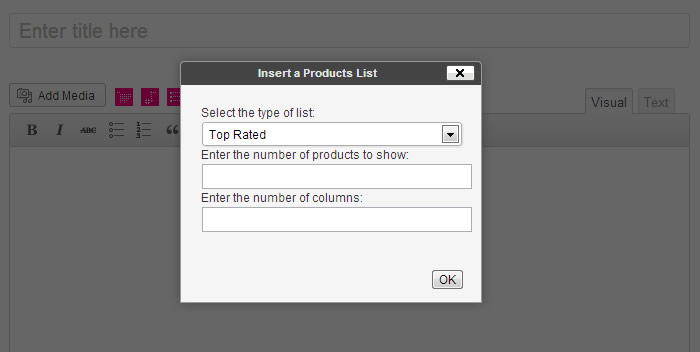 Products List Insertion